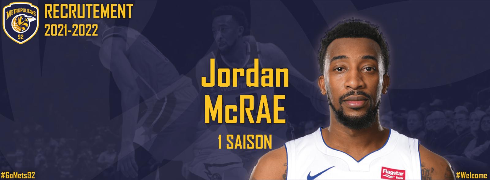 Recrutement - L'ailier scoreur Jordan McRae complète l'effectifdes Metropolitans 92 pour la saison 2021-2022!