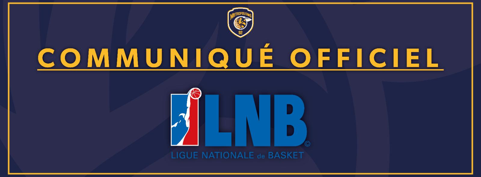 Communiqué officiel - Ligue Nationale de Basketball - 27 Mai