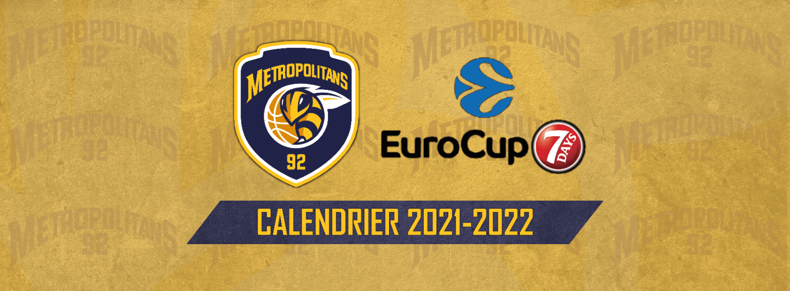 Eurocup - Calendrier saison régulière 2021/2022 !