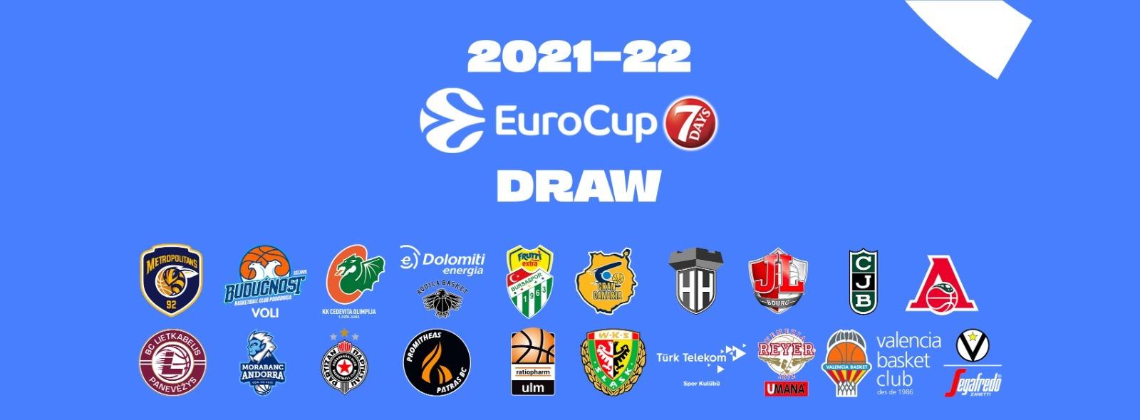 Eurocup 2021/2022 - Tirage au sort le vendredi 9 juillet à 13h15 !