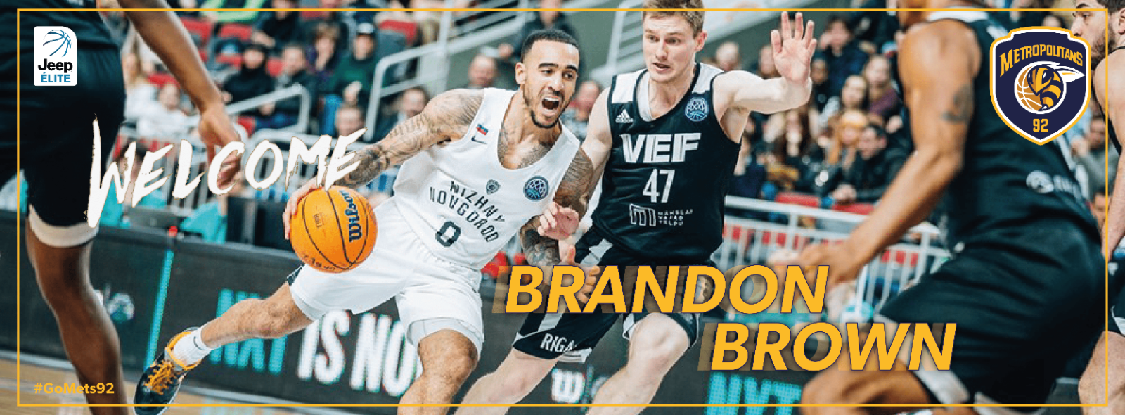 Recrutement - Brandon Brown renforce les Metropolitans 92