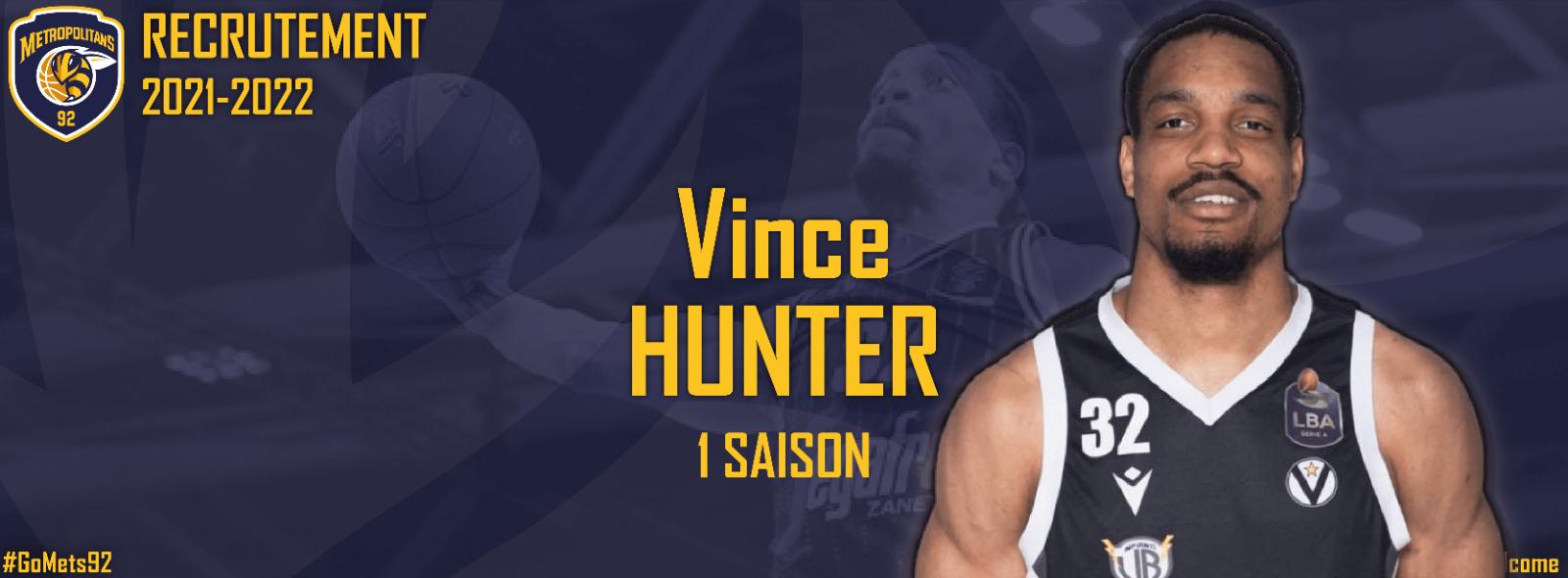 Recrutement - Vince Hunter renforce le secteur intérieur !