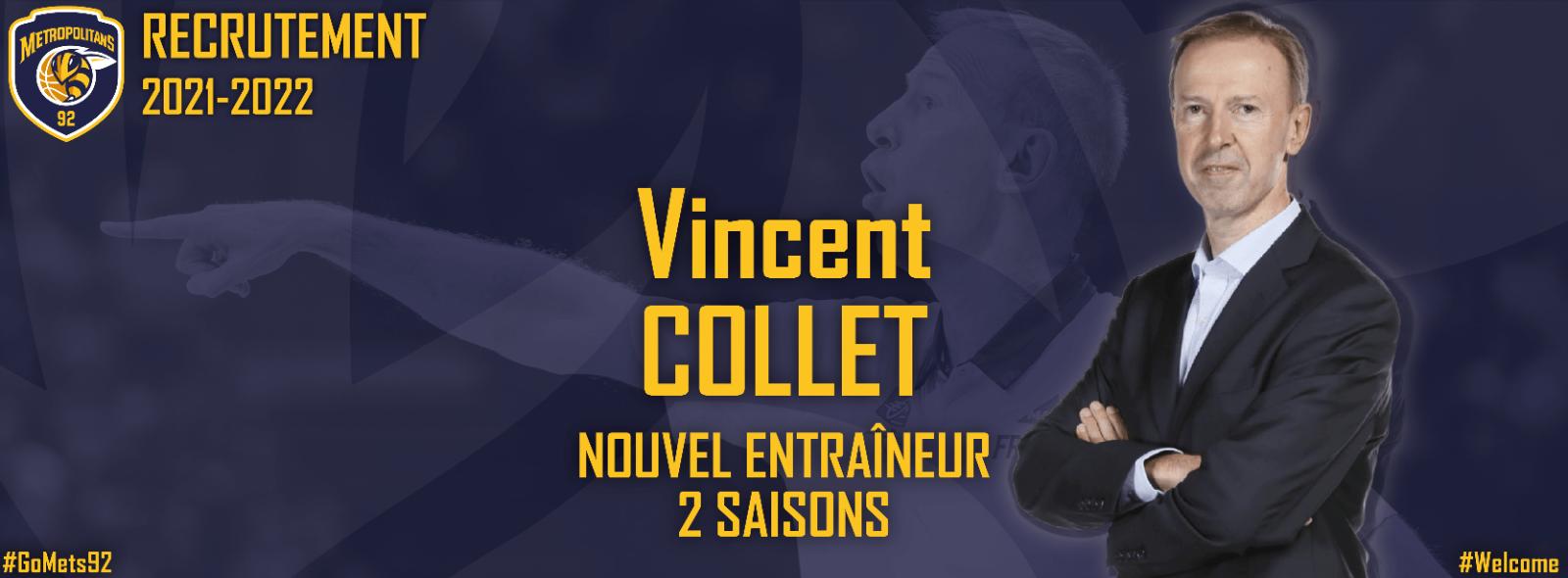 Vincent Collet, nouvel entraîneur des Metropolitans 92 !